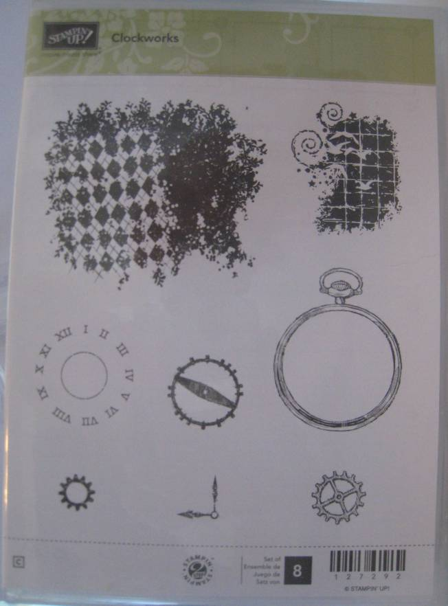 "Stampin' Up! Clear Mount ""Clockworks"""