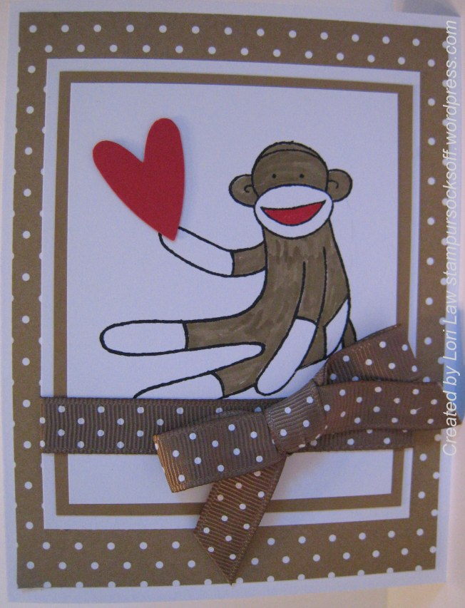 Sock Monkey Valentine