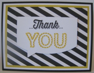 Stitched Thank You