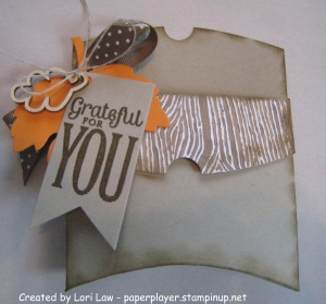 Inspired by Dawn Olfcheske, I created this treat pouch for a fall party.